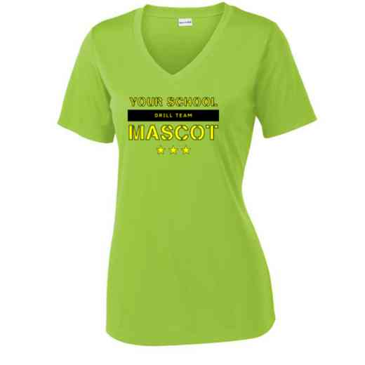 Drill Team Sport Tek Womens V-Neck Competitor T-shirt
